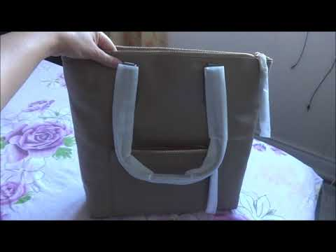59e66a7308ea MICHAEL MICHAEL KORS Ariana Large Nylon and Leather Tote - YouTube