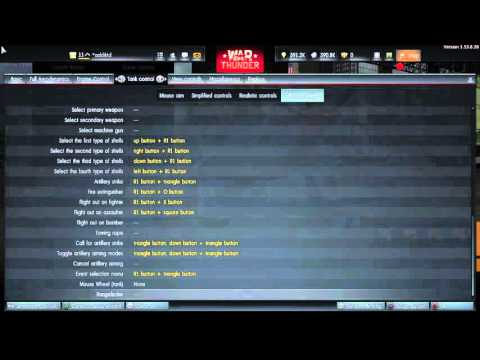 War Thunder ps4 control setup - YouTube