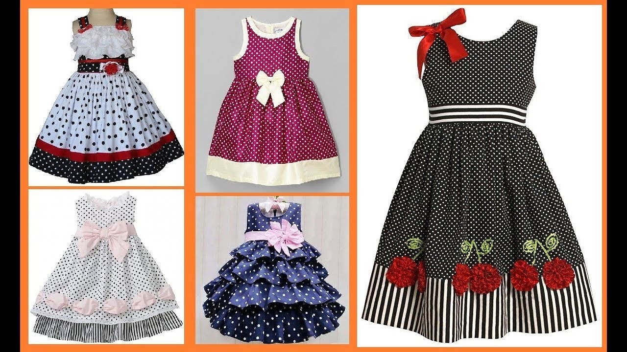 b566a1208 polka dot dress design for kids frock for baby girls - YouTube