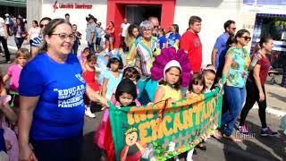 Desfile cívico com crianças de escolas públicas e particulares de Limoeiro do Norte