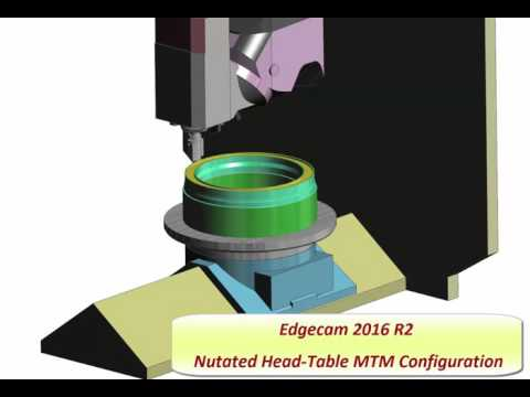 Nutated Head Table MTM | Edgecam 2016 R2