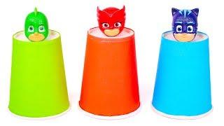 PJ MASKS 🎭 Aprende los colores con vasos de Heroes en Pijama