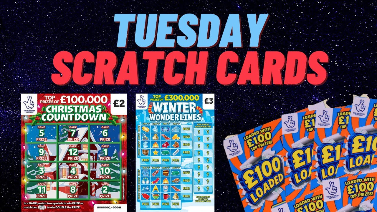 Tuesday Winter Wonderlines 100 Loaded Christmas Countdown Scratch Cards National Lottery C Youtube