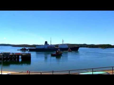 Maine Maritime Academy's Training Ship Leaves Castine Maine