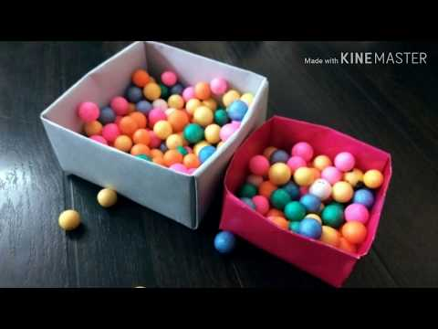 How to make origami paper box/make box without glue