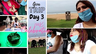 VLOG |Goa honeymoon trip 🥰 || masatuber 100K celebration 🎉 in goa || Day 3