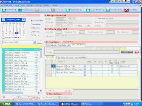 Phần mềm quản lý phòng khám, quản lý phòng mạch