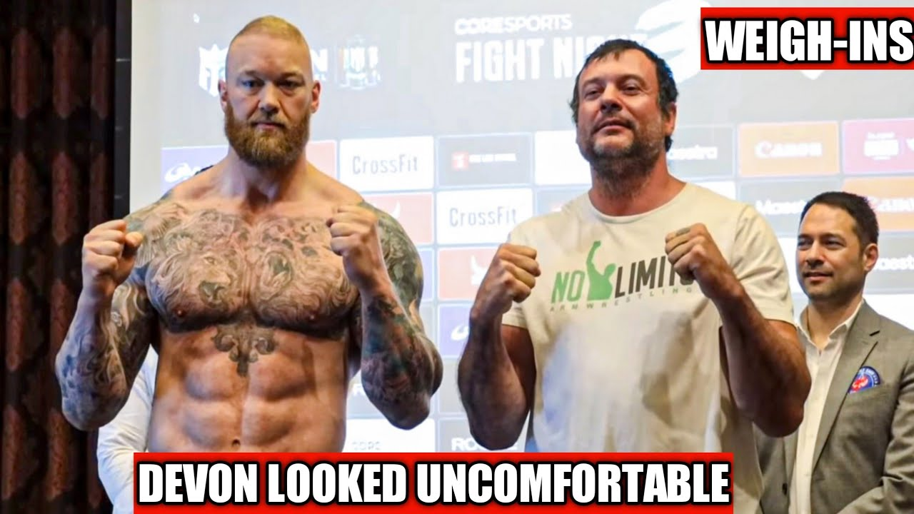Download DEVON VS HAFTHOR WEIGH INS | Michael Todd wins IFA | Todd Hutchings