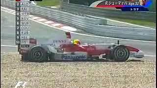 2007年 F1 第10戦 ヨーロッパGP 塩原アナ「当たったのは一体どこのドイツなんだ!」+佐藤琢磨リタイア