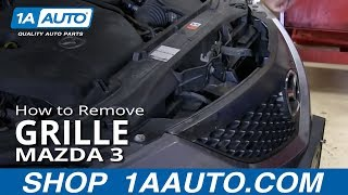 How To Install Replace Fix Broken Grille Mazda 3