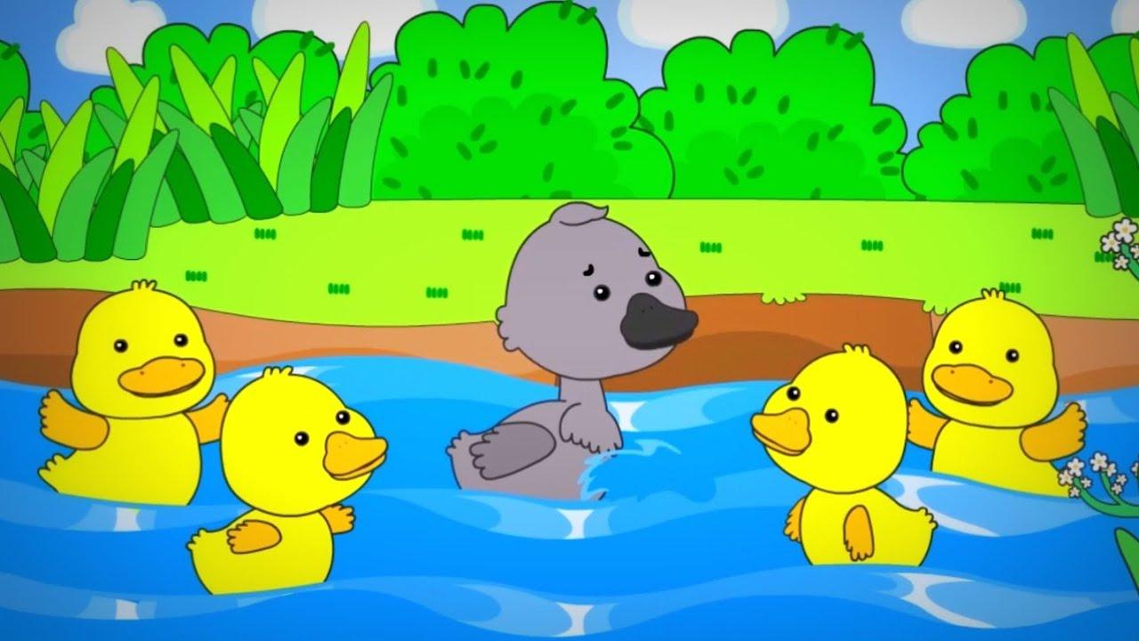 ก้าบ ก้าบ ก้าบ เป็ดอาบน้ำในคลอง | การ์ตูนแม่เป็ดขี้เหร่ สีเทา กับลูกเป็ดสีเหลือง ประกอบเพลง