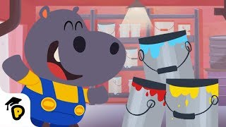 帮胡帕混合颜色 | 熊猫博士和托托 | 儿童早教视频