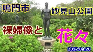 鳴門市妙見山公園 裸婦像と花々 2017.04.20
