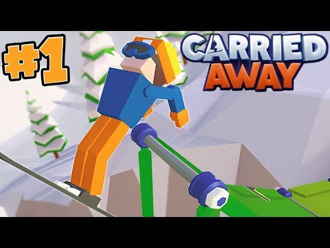 I'M  THE ULTIMATE SKI SLOPE BUILDER!! - CARRIED AWAY!! #1