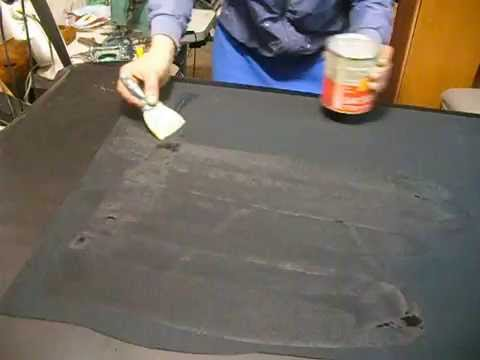 видео: Обтяжка панели как правильно наносить клей на материал