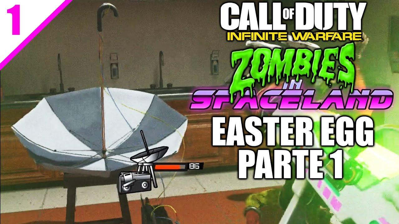 EASTER EGG PRINCIPAL SETI-COM STEP - Zombies In Spaceland - Infinite  Warfare - PARTE 1