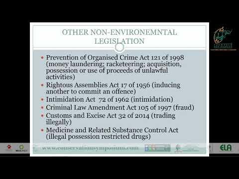 2016D2S10L1 Kirsten Youens Illegal wildlife trade & legislative changes to halt SPP. decimation