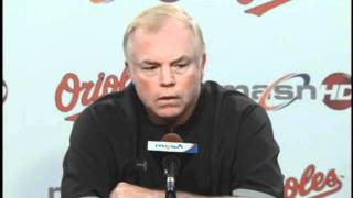 Buck Showalter and Nolan Reimold discuss Reimold being recalled from Triple-A Norfolk
