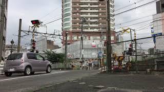 相鉄線 踏切 鶴ヶ峰駅  Sotesu Line, Railroad crossing, Tsurugamine in Yokohama, Japan