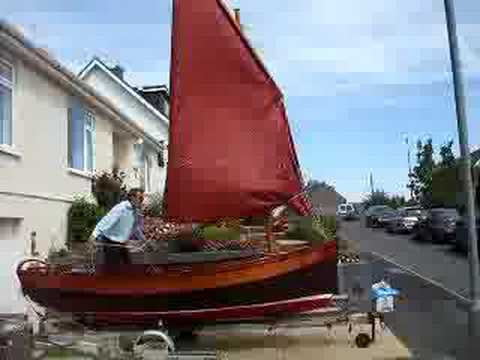 Tacking dipping lugsail, Beer lugger-style