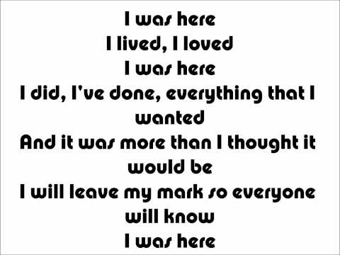 Beyonce - I was here Karaoke/Instrumental + Lyrics