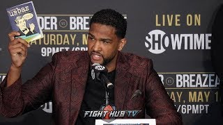 DOMINIC BREAZEALE REACTS TO WILDER THROWING URBAN DICTIONARY AT HIM