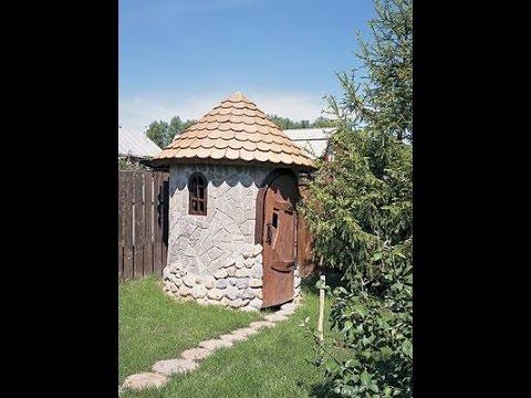 Туалетный домик своими руками фото