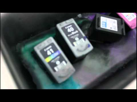 วิธีล้างหัวพิมพ์ตลับหมึก ultrasonic