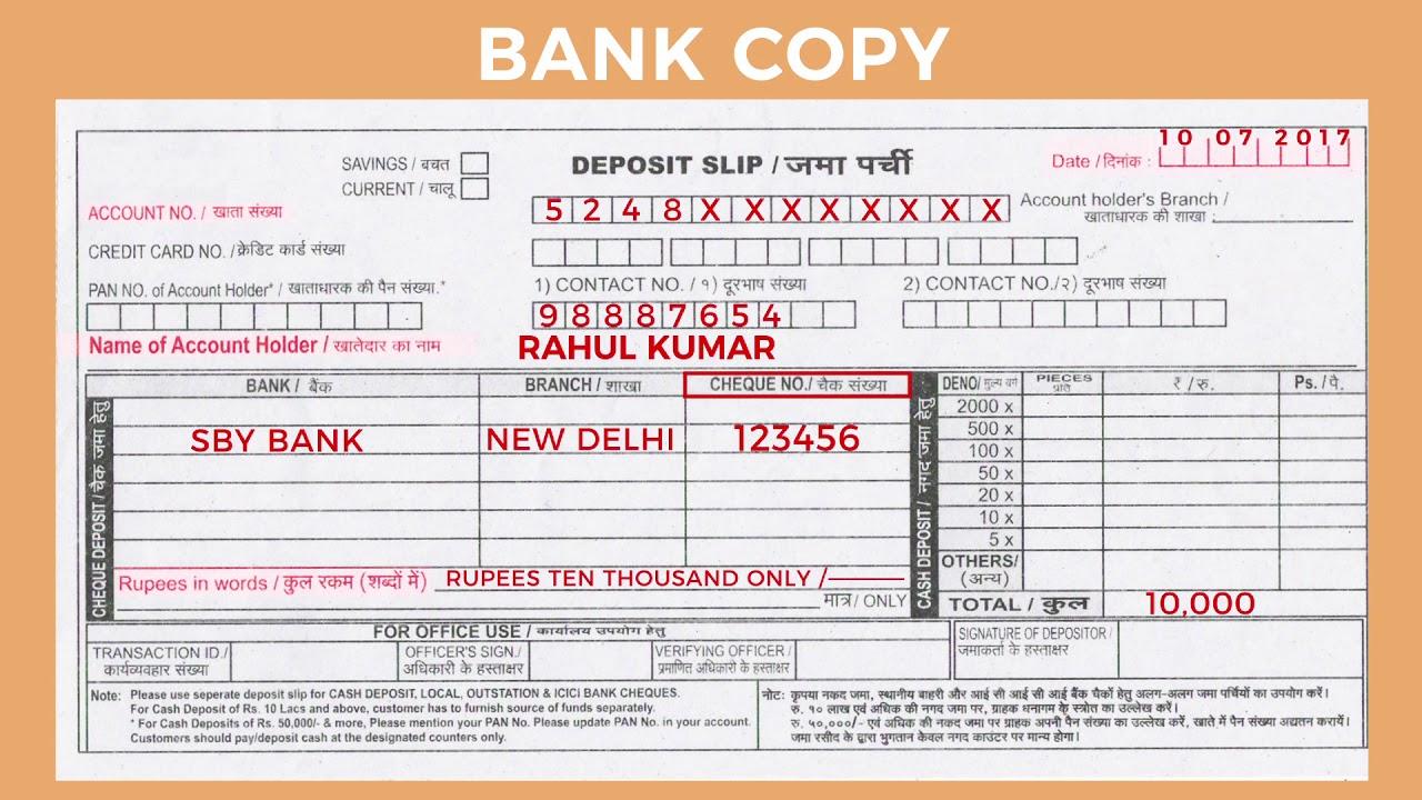 Bank Deposit Payment