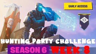 SECRET Banner Week 8 - Hunting Party Challenge Guide - Fortnite Battle Royale Season 6