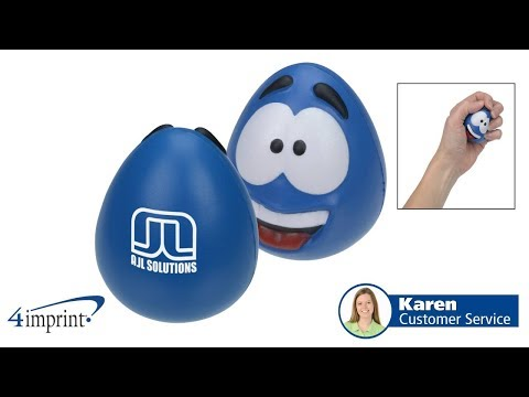Happy Face Squishy Stress Reliver - Custom Stress Reliever by 4imprint