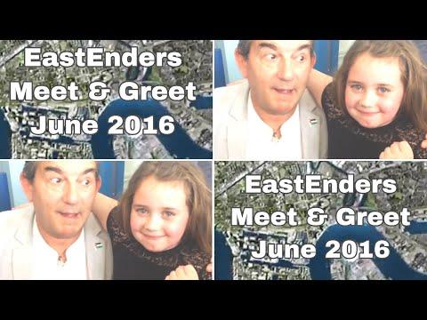 Brooke meeting Nasty Nick John Altman at the eastenders Meet & greet June 2016