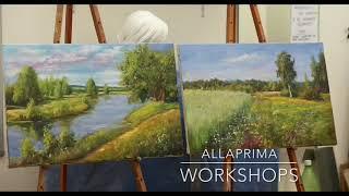 Работы учеников с мастер-классов Workshops. The works of my students. Allaprima Москва