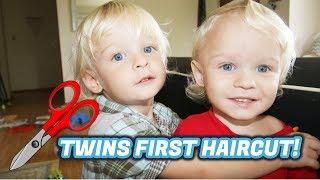 TWINS FIRST HAIRCUT!
