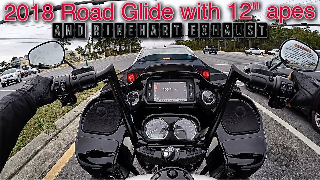 Road Glide Special 2017 >> 2018 Road Glide with 12 inch bars and Rinehart exhaust! - YouTube