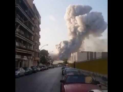 فيديو جديد مرعب يظهر إنفجار بيروت الضخم من زاوية أخرى!