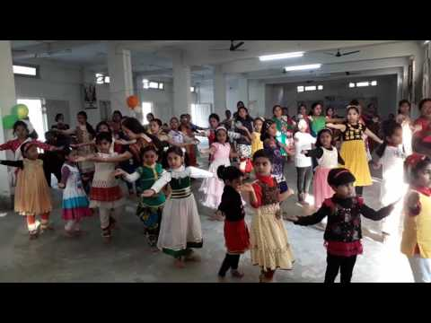 Chakkar practice by junior group (Rudraksh Performing Arts Centre)