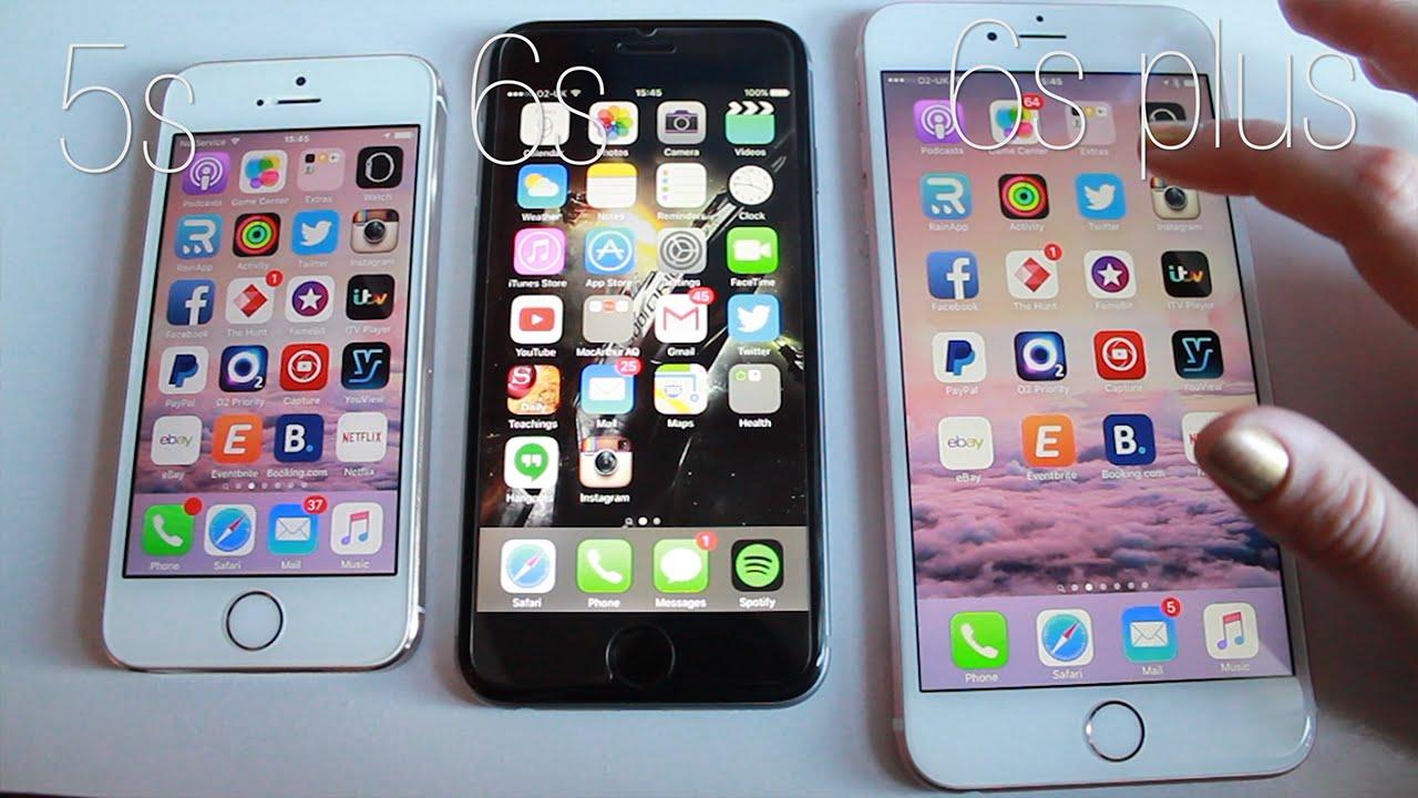 COMPARATIVA IPHONE 5S VS 6S