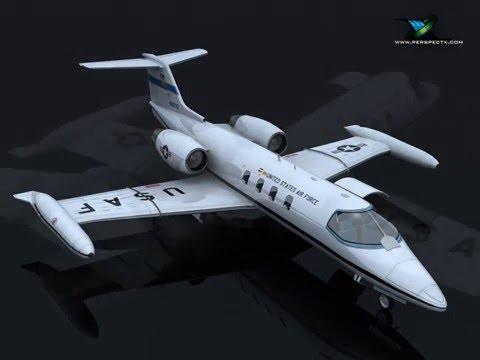 3D Model  C21A Lear Jet United States Air Force    at 3DExport.com