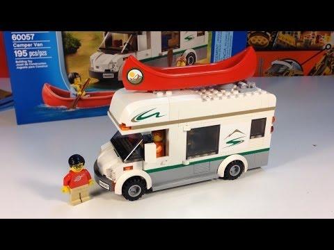 LEGO City 60057 Camper Van with Canoe - 2014 set - YouTube