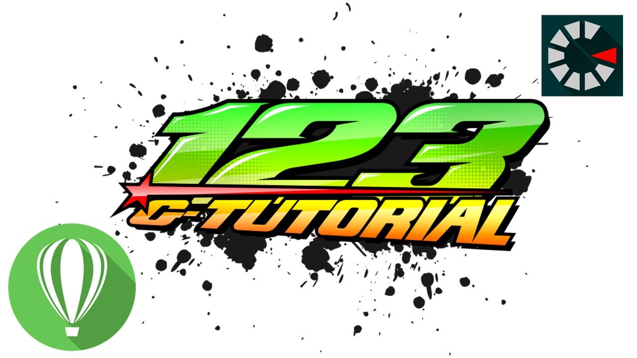 Racing number coreldraw tutorial 9 youtube