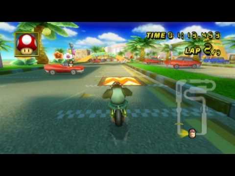 [MKW WR] Coconut Mall (no glitch) 1:56.182 by Infi
