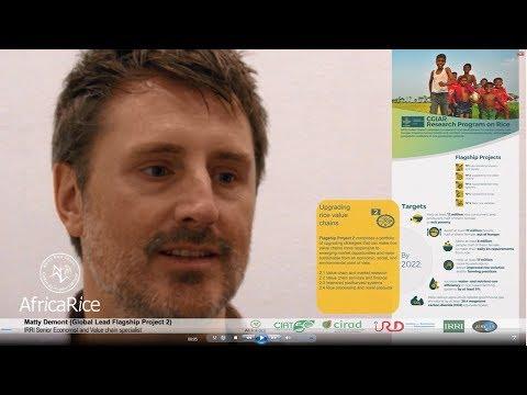 IRRI Senior Economist and Value chain specialist Matty Demont on RICE Flagship Project 2