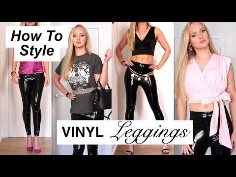 HOW TO STYLE VINYL U0026 FAUX LEATHER LEGGINGS // PLUS Mini Zara, ASOS U0026 PLT Haul // Chani Lillian