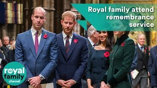 Royal family attend remembrance service at Westminster Abbey