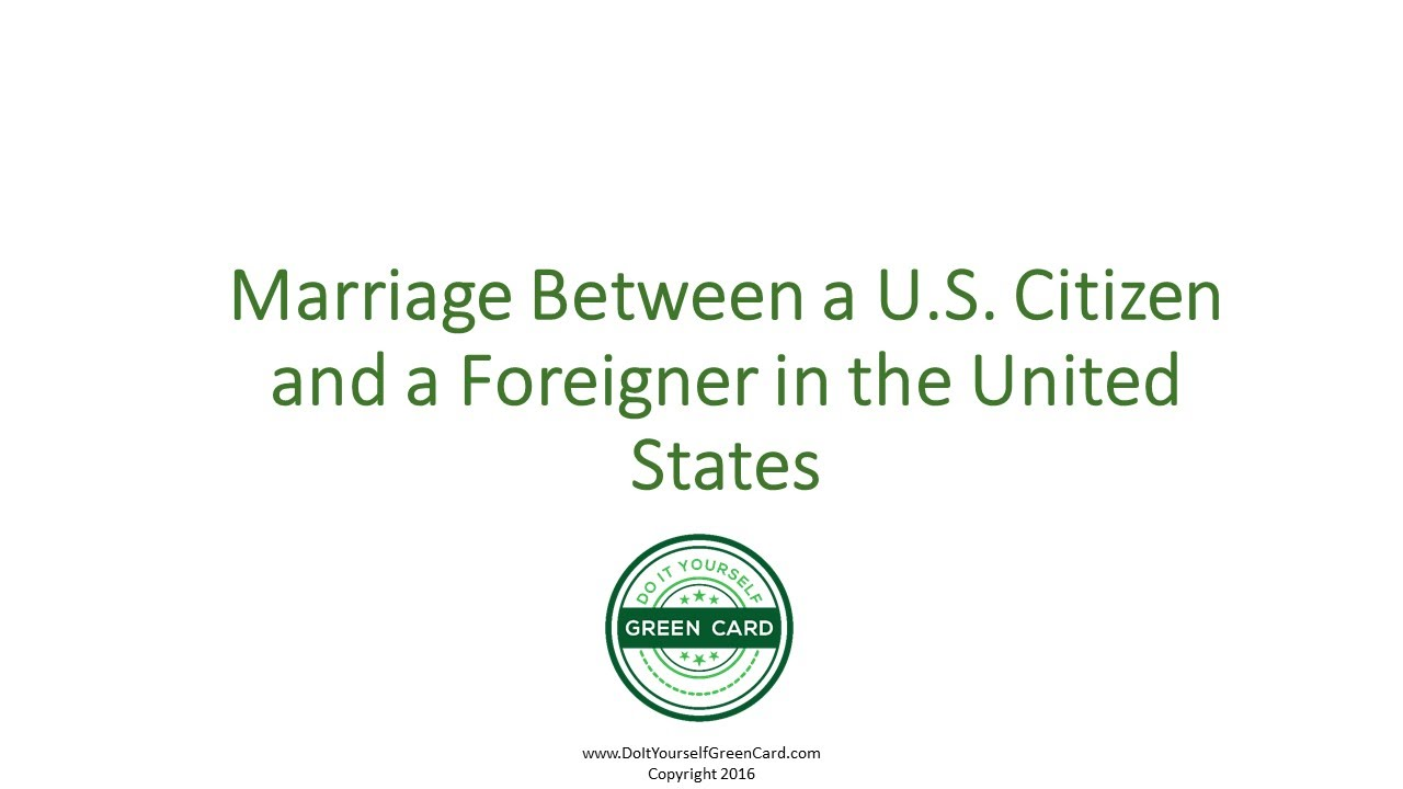 Delightful Marriage Between US Citizen And Foreigner In The United States   Marriage  Between Foreigner, Citizen
