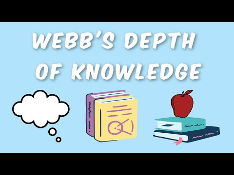 Webb's Depth of Knowledge: Learned!
