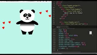 Animation panda on the HTML/CSS