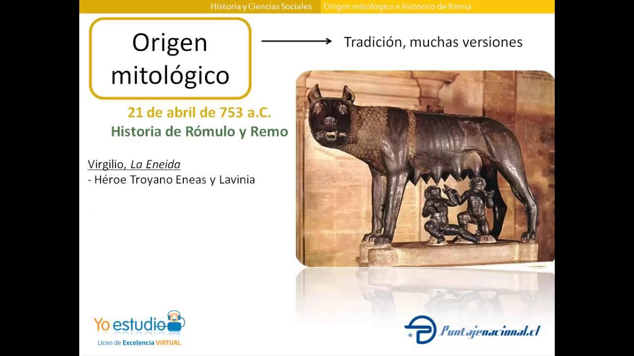 cual es el origen de roma segun la mitologia