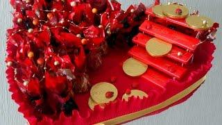 Подарок своими руками / Сердце из конфет